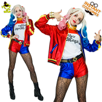 Hot Sale lady's Cosplay Outfit Lady Sexy Summer Hot Pants Fancy Dress Harley Quinn Cosplay Costume