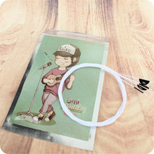 High Quality 4 pcs/lot Nylon Material Ukulele Small four-string guitar String Durable Stringed Instrument Player