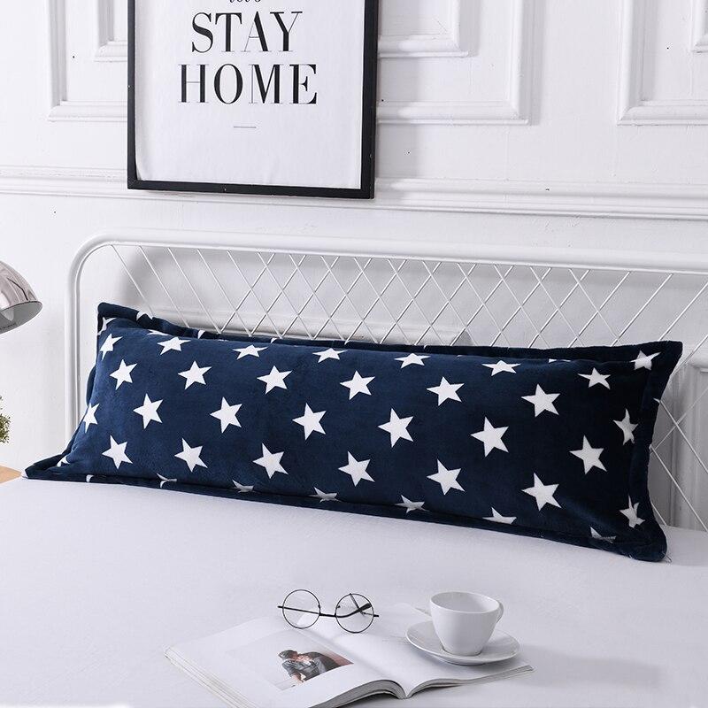 Winter Warm Flannel Double Pillow Case Thick Coral Fleece Pillowcase Adult Long Pillowcase 48x150cm/48x120cm/48x180cm