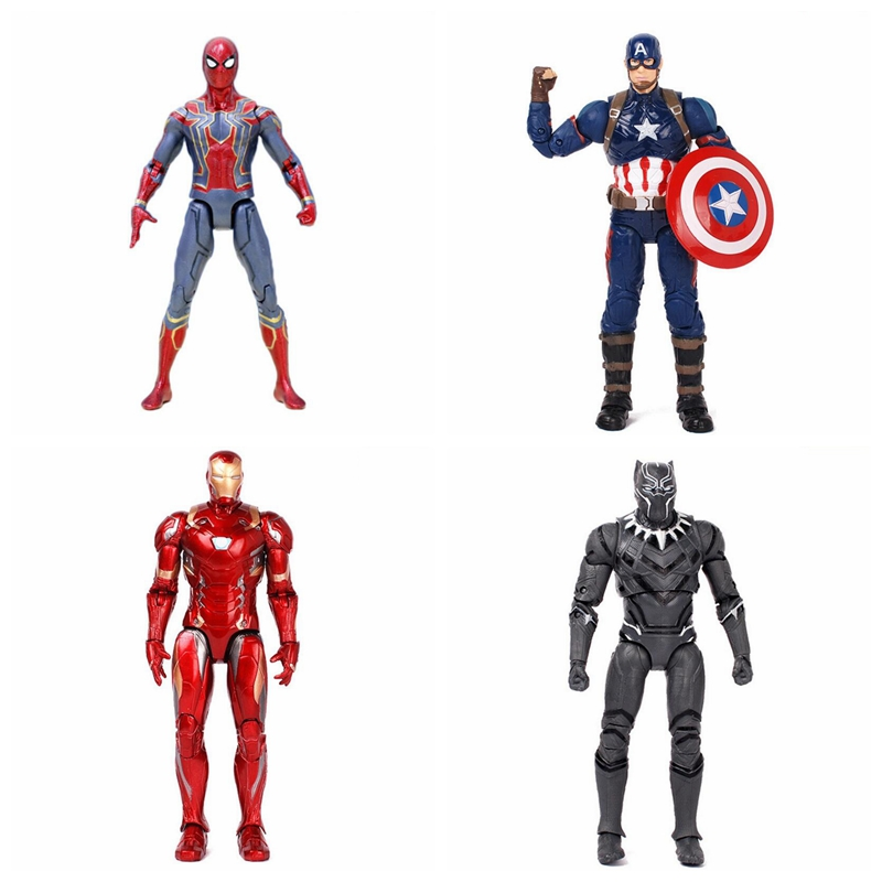 Marvel the Avengers 3 Infinity War Iron Spider Man Black Panther Iron man Captain America Spiderman Movable Action Figure toys new hot 15cm iron man avengers tony stark spider man homecoming action figure toys spiderman christmas gift doll with box