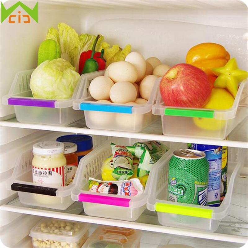 wcic plastic refrigerator storage boxes fridge food storage Vegetable Holder for Kitchen