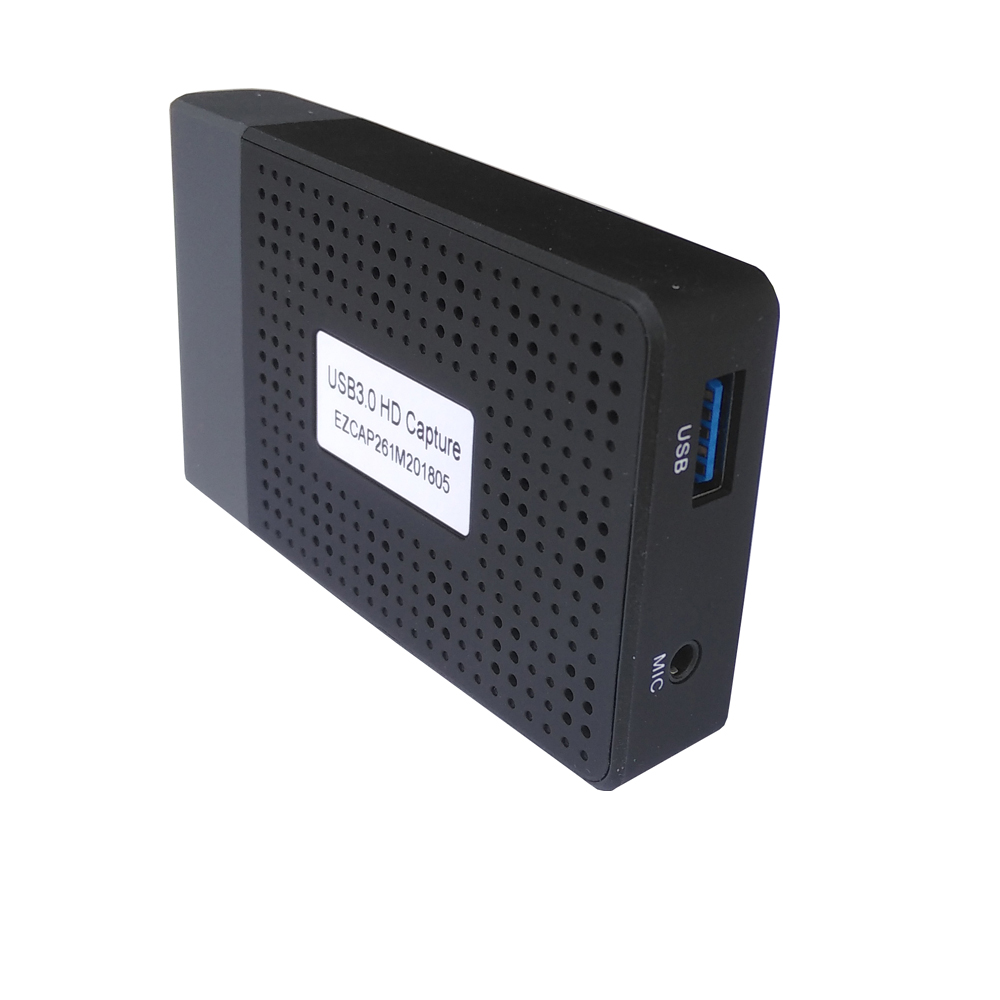 Ezcap261M HDMI to USB3.0+MIC converter, convert hdmi to usb3.0 video capture with mic your voice show HD Monitor TV