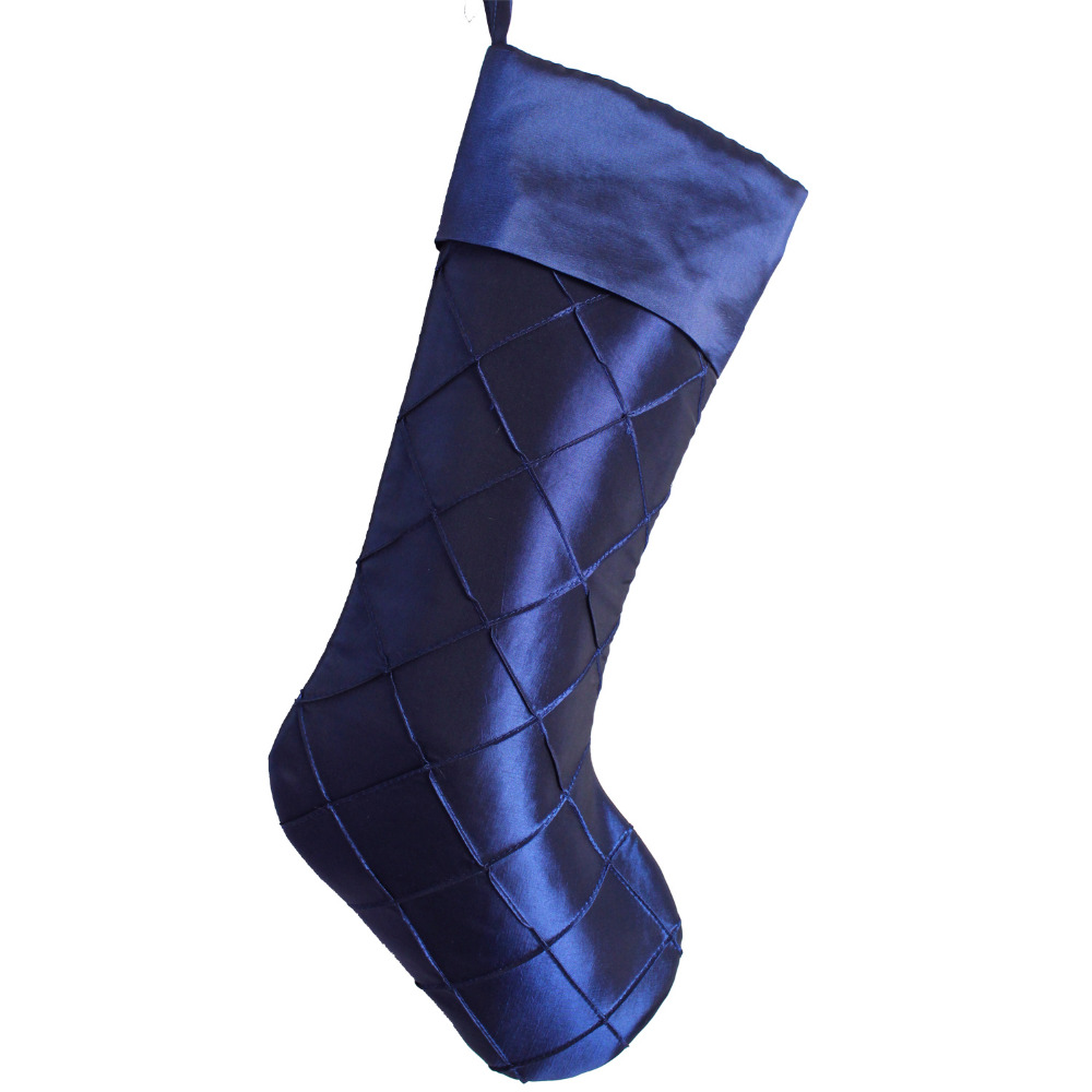 buy blue christmas stockings and get free shipping on aliexpresscom - Blue Christmas Stocking