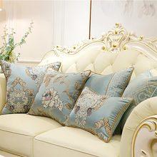 Современная синяя Геометрическая Подушка/almofadas чехол для взрослых, Европейский дизайн, чехол на спинку сиденья 45, 50, 60, декоративный Чехол на подушку