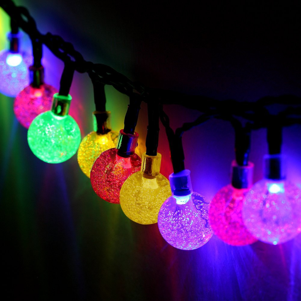 T SUNRISE Outdoor Solar Powered String Lights Multi color fairy Lights Waterproof Decoration Christmas Light for Party Wedding -in Solar L&s from Lights ... & T SUNRISE Outdoor Solar Powered String Lights Multi color fairy ...