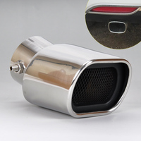New 1Pc Universal CURVED Exhaust Tailpipe Tail Pipe Rear Muffler Tailpipes For Nissan Versa Honda Fit