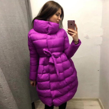 Ukraine Hot Sale Long No Single Breasted 2017 Winter Hot Women's Clothing Fashion Solid Color A Word Warm Cotton Coat Women