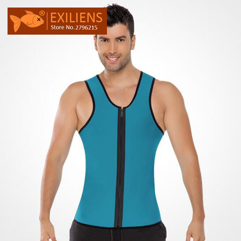 [EXILIENS] Man Shaper Brand Underwear Men Bodysuit Shapewear For Men Fitness Jumpsuit Pull The Chain Faja Reductora Hombre Black