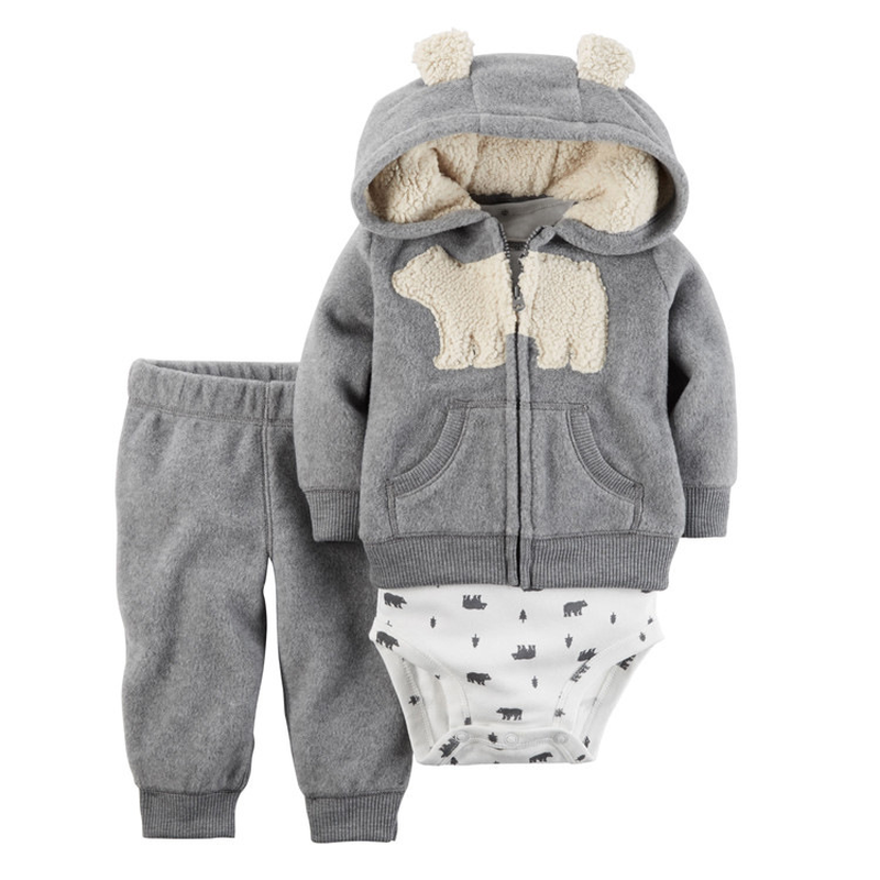 Baby Girl Boy Clothes Romper 2018 Newborn Infant Kids Baby Boy Girl Cotton Coat Romper Long Pant 3pc Jumpsuit Clothes Outfit newborn infant baby boy girl clothing cute hooded clothes romper long sleeve striped jumpsuit baby boys outfit
