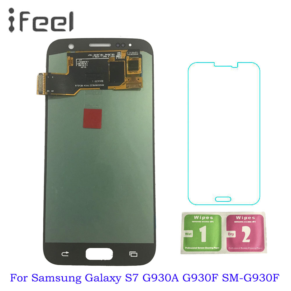 5.1 ''SUPER AMOLED LCD Per Samsung Galaxy S7 G930 G930A G930F SM-G930F Display LCD Touch Screen Digitizer Assembly di Ricambio