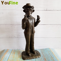 Bronze Monkey Statue Abstract Character Styling Cute Cartoon Sculpture Upholstery Art Decoration