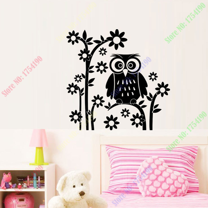 Online Shop 55x57cm Night Owl Tree Flower Wall Stickers Quotes Decal Wall  Sticker Mural Removable For Sitting Room Home Decor | Aliexpress Mobile Part 97