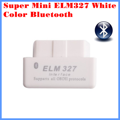 Works on TORQUE for Android Code Reader Super mini ELM327 Bluetooth OBD-II OBD Can White color 1.5 version with retail box