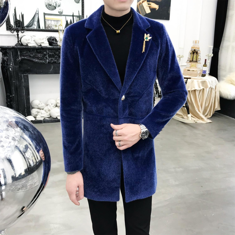 Männer Herbst Winter Slim Fit Fashion Business Casual Lange Anzug Jacke Mantel Männlichen Dicke Warme Blazer Mantel Oberbekleidung-in Blazer aus Herrenbekleidung bei AliExpress - 11.11_Doppel-11Tag der Singles 1