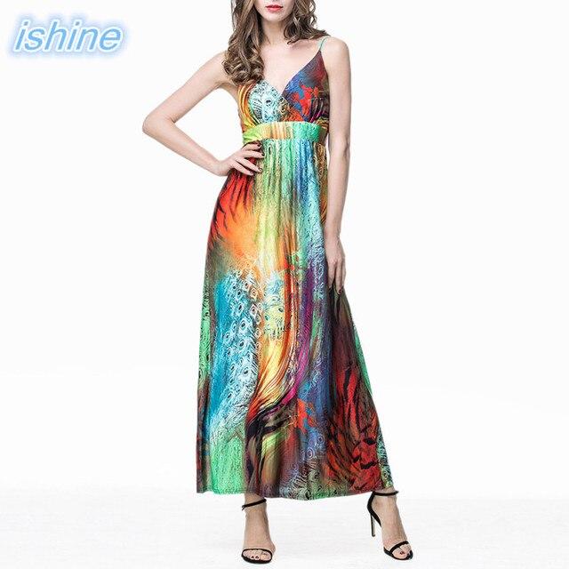 Boho Deep V neck Backless Long Women Dress Fashion Summer Casual Dress  Sleeveless Beach Maxi Dress Vestidos Plus Size XL-6XL 9e39653ebe83