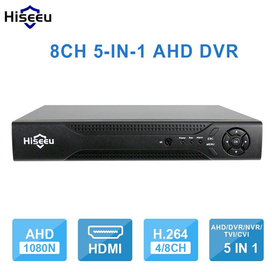 Hiseeu 8CH 960P DVR video recorder for AHD Camera Analog Camera IP camera P2P NVR Cctv System DVR H.264 VGA HDMI Dropshipping 43 4ch 8ch 1080n cctv ahd dvr nvr xvr video
