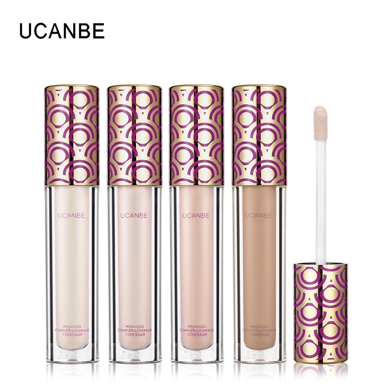 UCANBE Brand 4 Colors Liquid Concealer Makeup Waterproof Cover Face Flaws Lightweight Concealer Cream Brighten Contour Cosmetics image