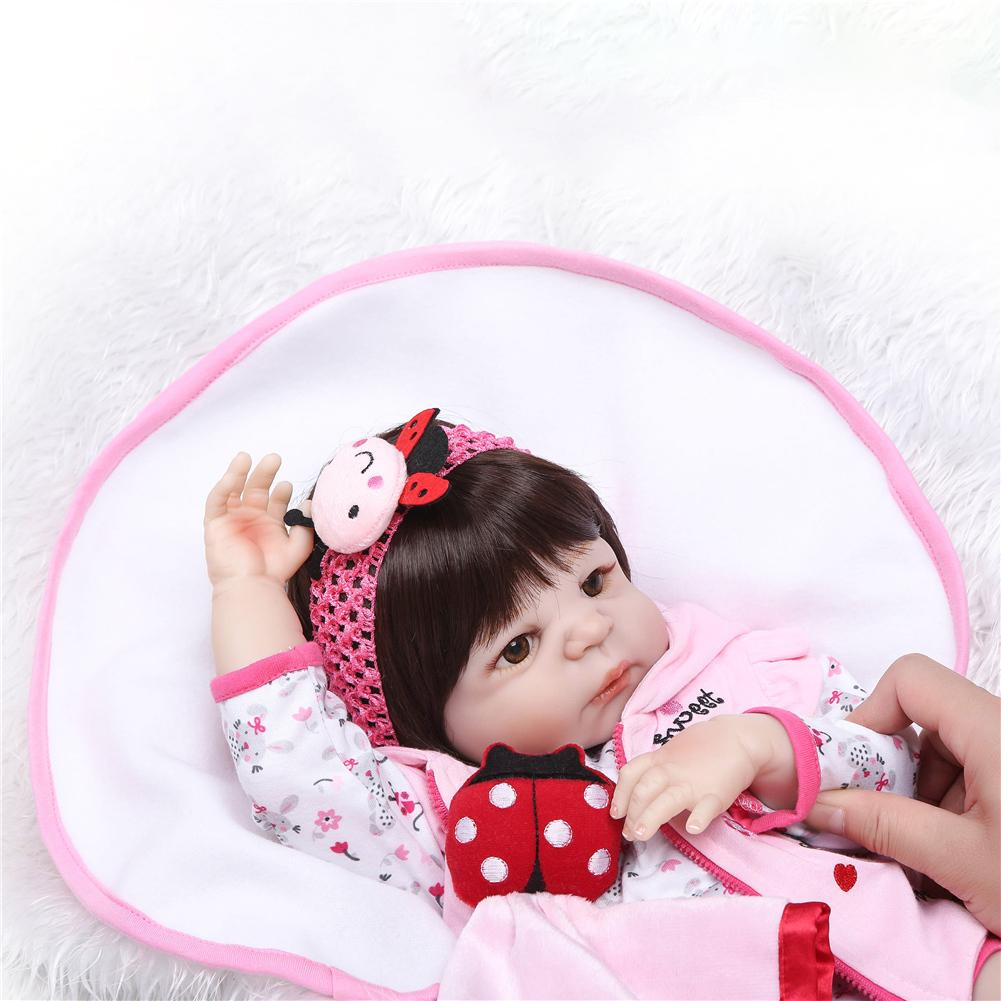 Lifelike Simulated Company Silicone Full Coverage Washable Reborn Doll Toy For Children Girl Birthday Gift