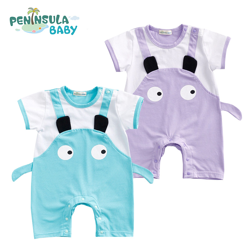Newborn Baby Romper Bebes Boys Girls Ear Big Eyes Rompes New Born Jumpsuit Baby Boy Girl Brand Clothes Fashion Cute Clothing