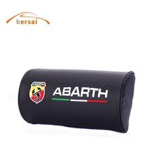 Carbon fiber style soft Neck Pillow Car seat headrest car styling for Fiat ABARTH 500 Punto Stilo Ducato Palio Seat Accessories