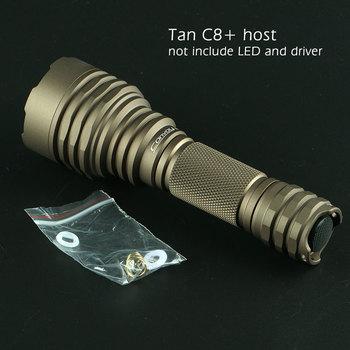 Czarny/pustynny tan convoy C8 + host, nie zawiera diody LED i sterownika