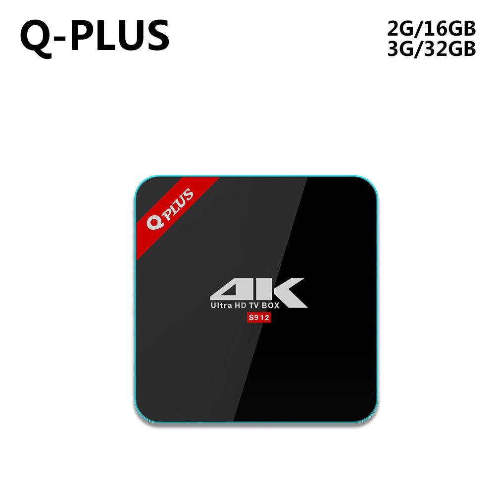 3G 32G Q Plus Amlogic S912 Android 6 0 font b TV b font BOX Octa