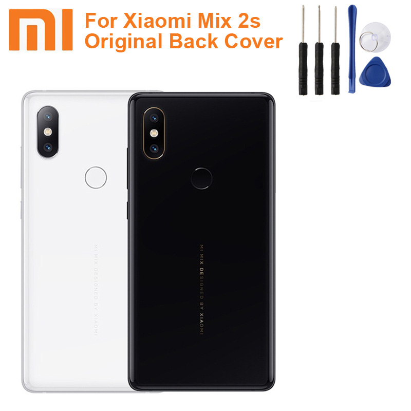Xiao <font><b>Mi</b></font> Xiaomi <font><b>Mi</b></font> Original Glass <font><b>Battery</b></font> Rear Case For Xiaomi <font><b>MIX</b></font> <font><b>2s</b></font> MIX2s Back Cover Backshell Back Cover+ Tool image