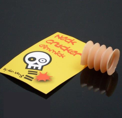Free shipping Neck Cracker Gimmick by Alan Wong / close-up coin Magic Trick A coin throu ...