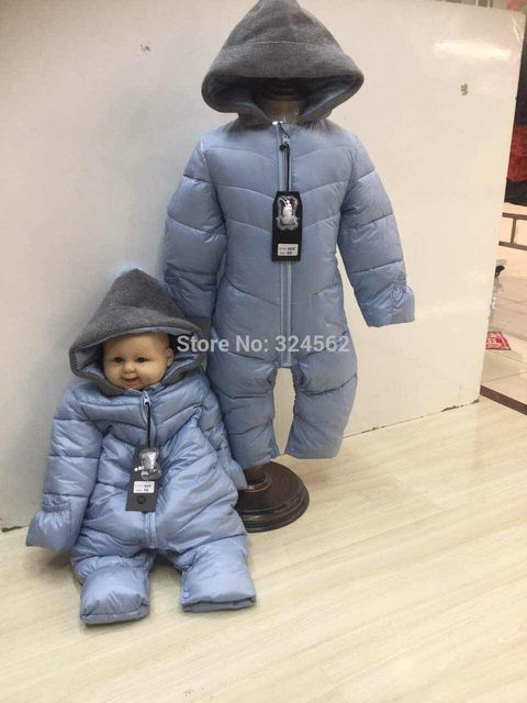 ad0ad3875 High Quality Baby Boy Girl Romper Winter Thickening Wadded Jacket ...