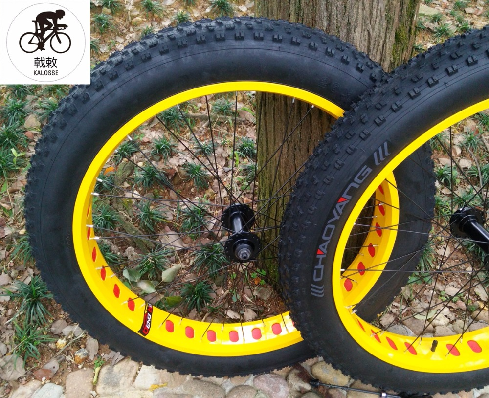 Bicycle Wheel Kalosse Beach Bicycle Wheels 26 Inch Wheels+tubes+tires 135/190mm Snow Bicycle Wheels 26*4.0 Tires Wheel To Have Both The Quality Of Tenacity And Hardness