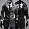 New 2016 Winter Mens Designer Clothing Cashmere Thick Trench Coat Wool Jacket Warm Windbreaker Men Overcoat Casacos DFBTC005