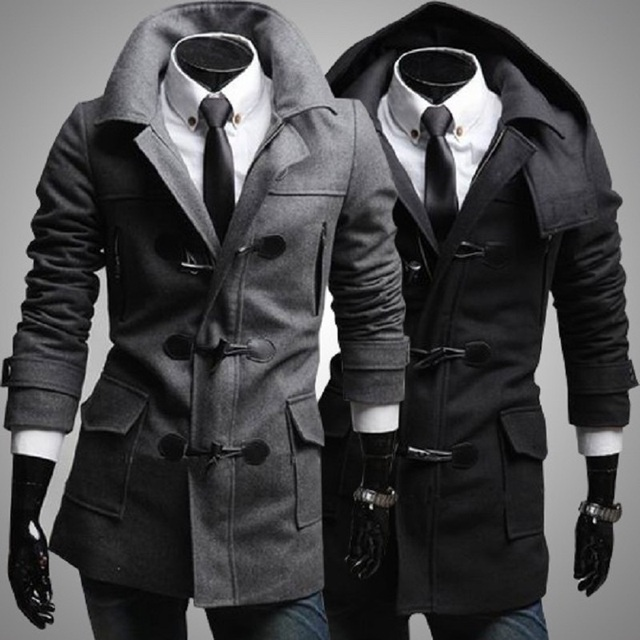 Novo 2016 Mens Designer De Roupas de Cashmere Trincheira Grosso Casaco de Inverno Casacos de Lã Sobretudo Os Homens Jaqueta Corta-vento Quente DFBTC005