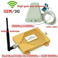 مجموعات كاملة gsm 900 ميجا هرتز gsm 2100 ميجا هرتز مكرر مكرر الداعم إشارة الهاتف الجوال gsm 3 جرام W-CDMA مع هوائي