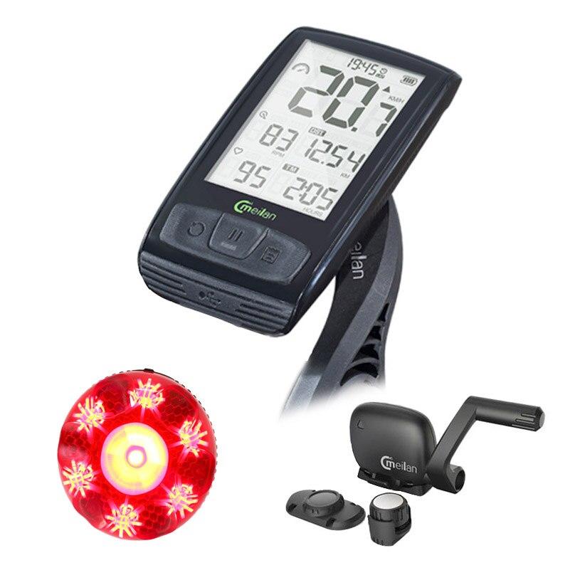 Vélo sans fil ordinateur vélo compteur de vitesse cyclisme tachymètre cadence Bluetooth capteur feu arrière gratuit