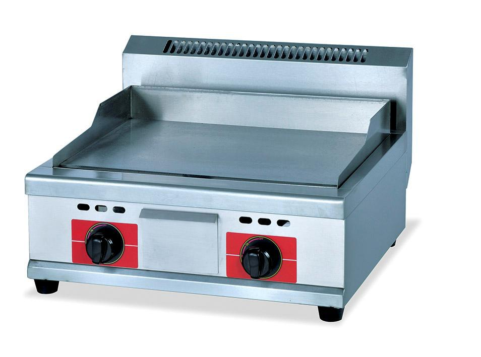 gas flat frying heating panel griddle stainless steel gas food frying griddle catering