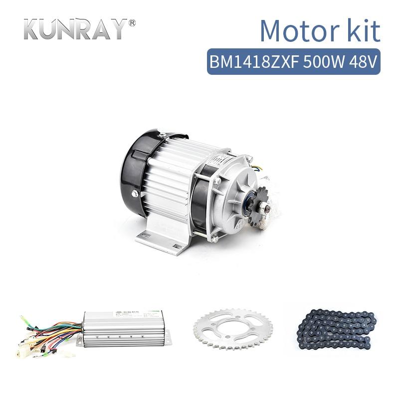 BM1418 500W48V DC Brushless Motor BLDC Kit Conjuntos de Kit Completo Meados de Acionamento Do Motor Do Motor Triciclo Elétrico Com Controlador E- peça do carro