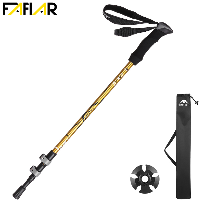 Trek Pole Nordic Walking Poles Telescopic Alpenstock