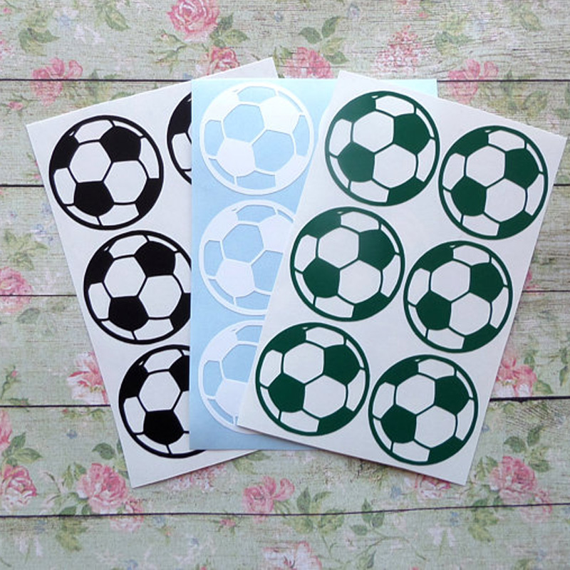 6 Pieces Soccer Ball Wall Stickers Decoration On The Wall Little Things For Home DIY Vinyl Decal