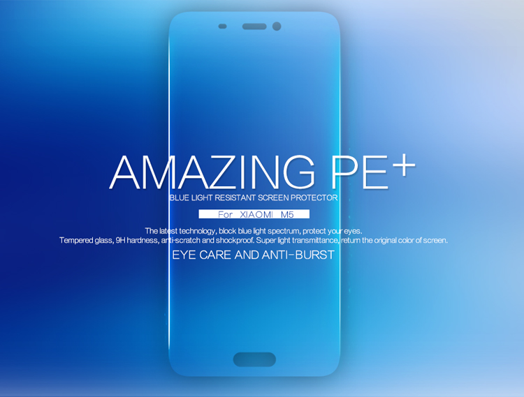 bilder für 10 stücke Großhandel NILLKIN Erstaunlich PE + Blue Light Beständig Ausgeglichenes Glas-schirm-schutz-film Für Xiaomi Mi5/Xiaomi M5/Xiaomi 5