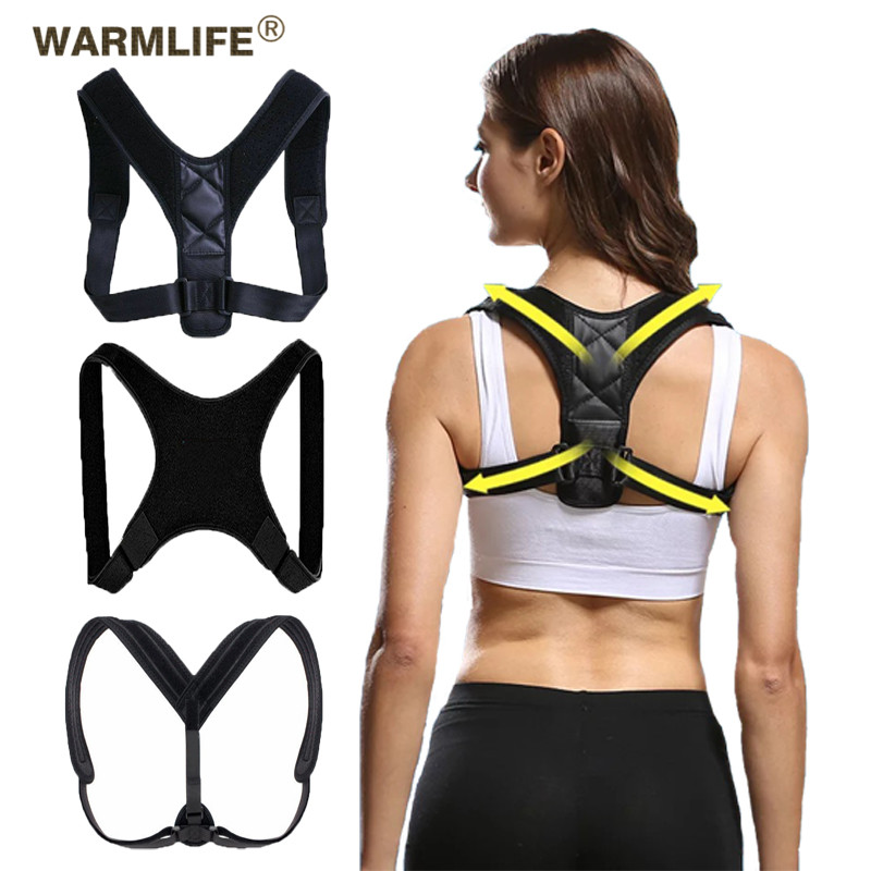 Posture Corrector Clavicle Spine Back Shoulder Support Corrector Adjustable Brace Band Correction <font><b>Humpback</b></font> Back Pain Relief image