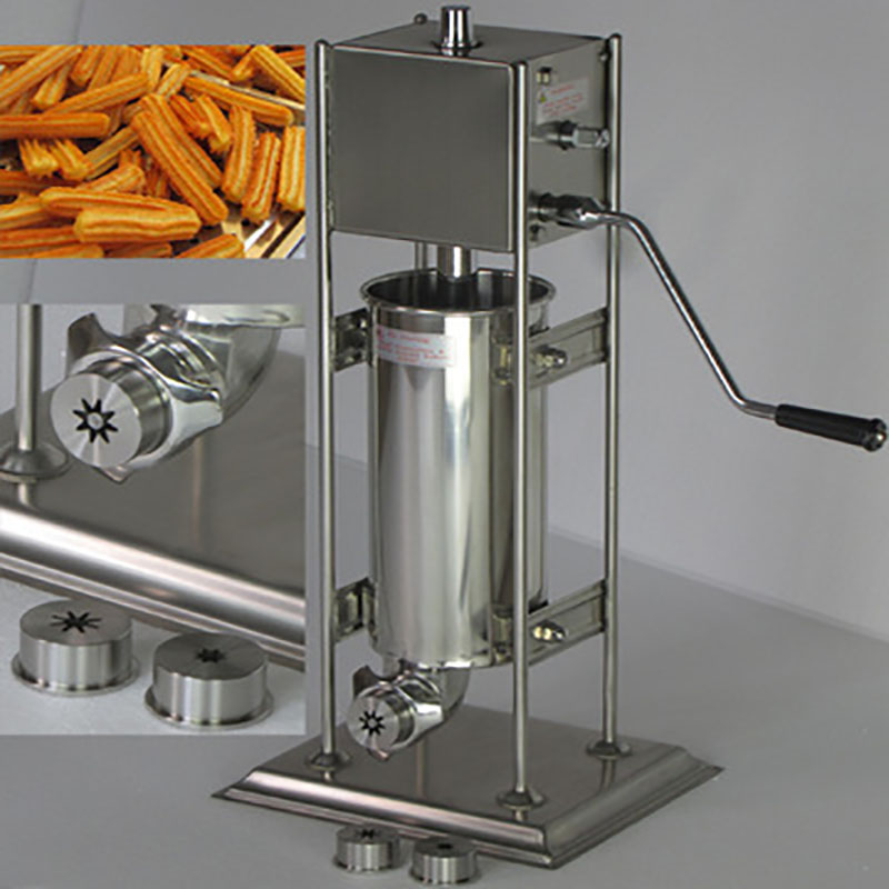 BG-5L Electric automatic Spain churros machine Fried dough sticks machine Spanish snacks, Latin fruit machine 5 pcs electrical spain spanish churros making machine