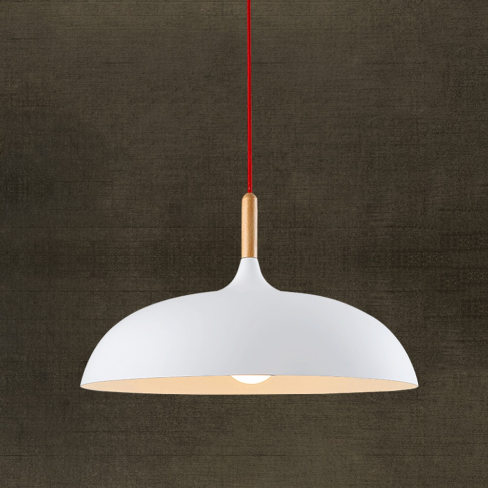 aliexpresscom  buy modern pendant light nordic style suspension  - aliexpresscom  buy modern pendant light nordic style suspension luminairehanging lamp vintage pendant lamp rustic wood light aluminium lampshadefrom