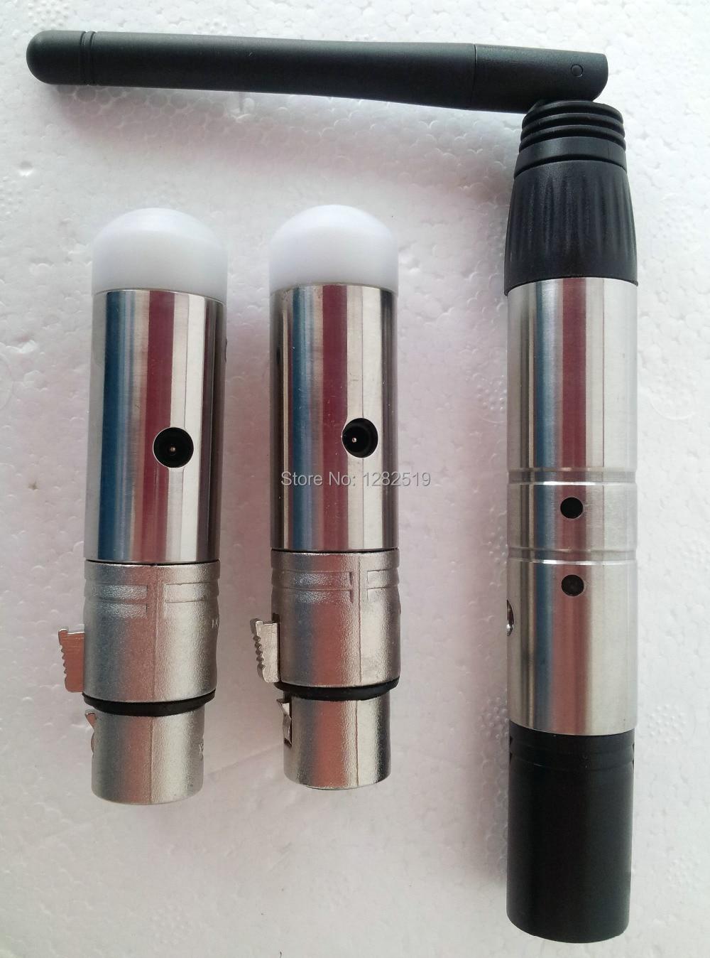 3pcs 2.4G Transmetteur 1pc de contrôleur d'éclairage DMX sans fil + 2pc récepteurs