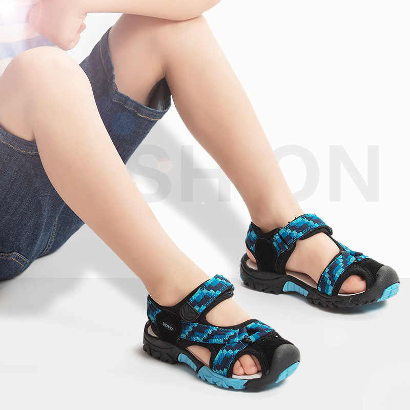 UOVO 2018 Brand Summer Beach Sandals Kids Sandals boys Leather Summer Shoes  Casual Sport Sandals For d56f34ff7f59