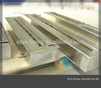 62 Inch Stainless Steel Manual Ethanol Fireplace Burners