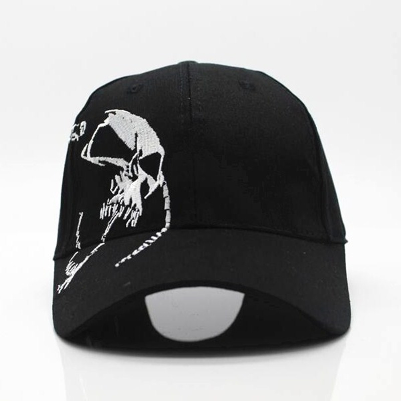 Skull embroidery baseball cap