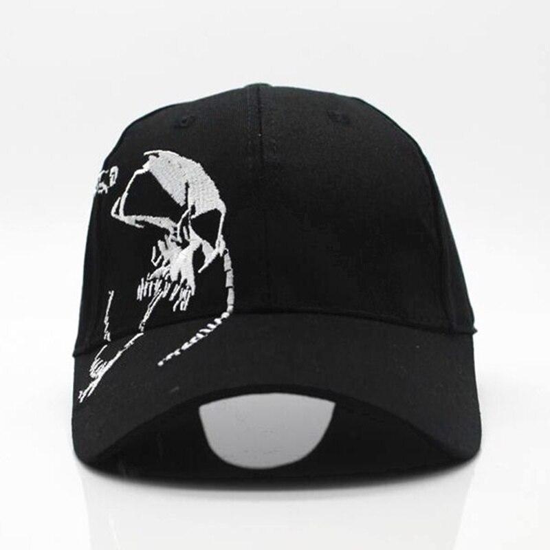 2018 hohe Qualität Unisex 100% Baumwolle Outdoor Baseball Kappe Schädel Stickerei Snapback Mode Sport Hüte Für Männer & Frauen Kappe