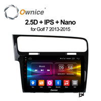 Ownice C500 + 8 core android 6.0 pour VW Golf 7 2015 2016 Golf R 2015 2016 Golf GTE 2015 Voiture radio Lecteur 2 GB RAM 32 GB ROM 10.1