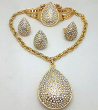 African Gold Color Nigerian Wedding Jewelry Set