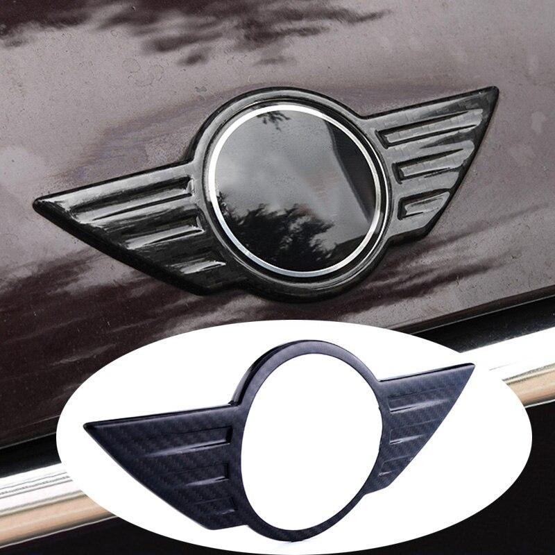 In Fibra di carbonio Dell'automobile di Marchio del Distintivo Anteriore Cofano Cofano Baule Posteriore di Coda Emblem per Mini Cooper F54 F55 F60 F56 R55 R56 Countryman R60 R61